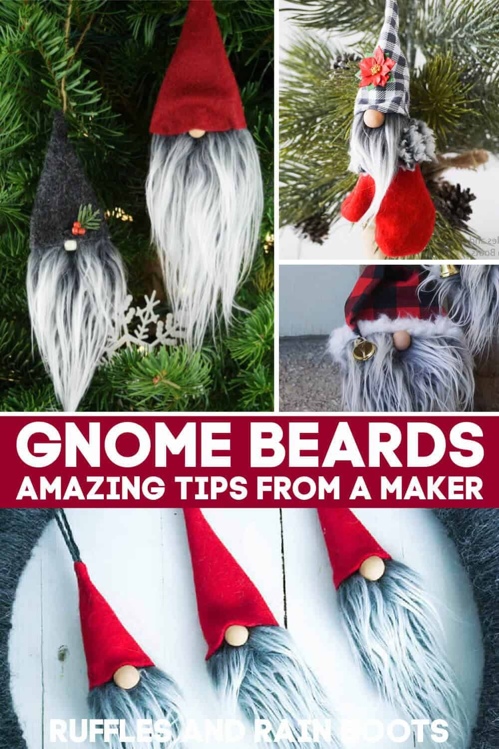 Learn How To Make A Gnome Beard Christmas Decor Diy Xmas Crafts Gnomes Crafts