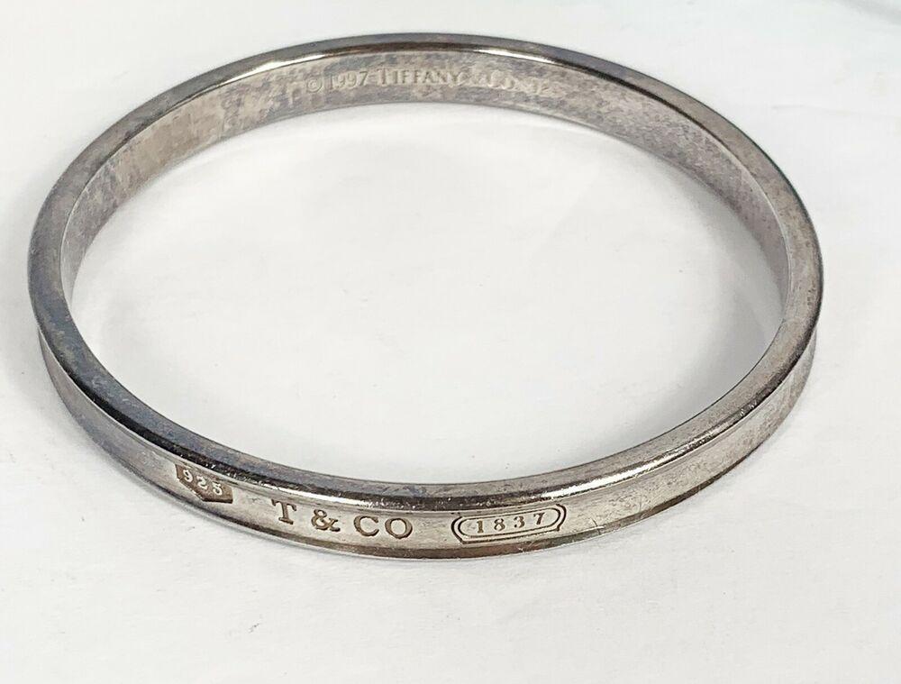 1997 Tiffany Co 925 Sterling Silver 1837 Concave Cuff Bangle Bracelet Ebay Sterling Silver Bangles Silver 925 Sterling Silver