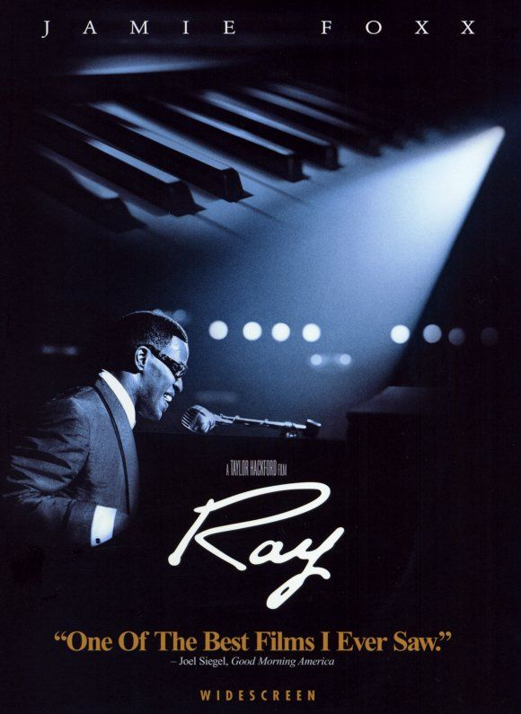 Ray -- Jamie Foxx is absolutely amazing in this film! All time favorite! |  Movie posters, Ray charles, African american film