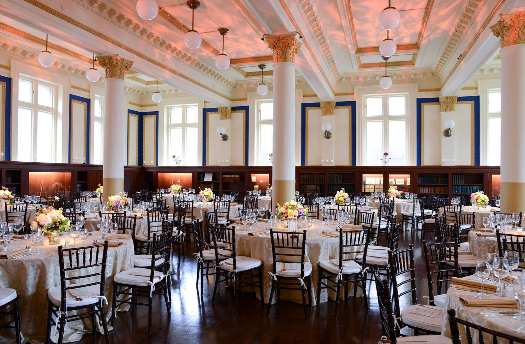 The Ship Room At Providence Public Library Before Wedding Reception Begins Is