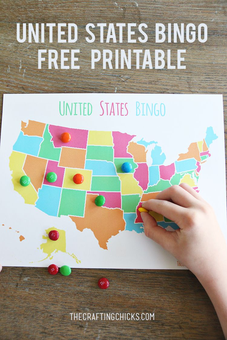 Us Map Game For Kids.United States Bingo Fun Ideas For Kids Pinterest Homeschool