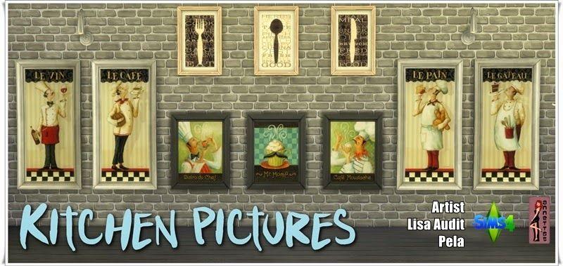 "Annett's Sims 4 Welt: Fridge ""Cool"" & Kitchen Pictures"