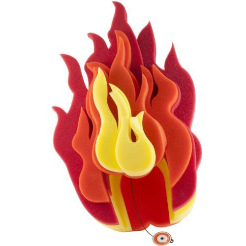 Chris March Fun Light Up Flame Foam Wig Hat Fire For Costume