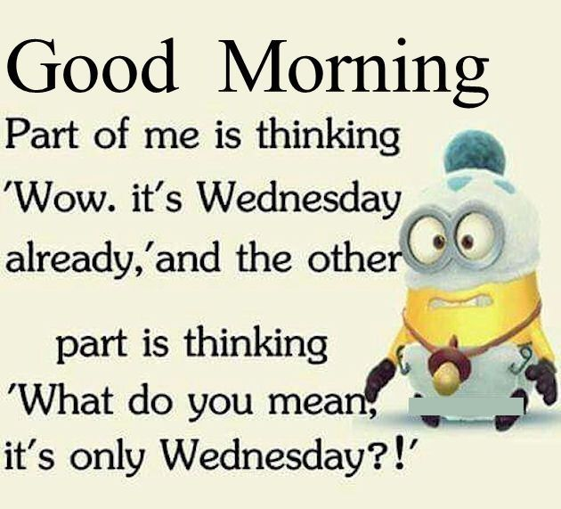 Good Morning Funny Minion Wednesday Quote