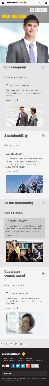 Responsive Website Layout With Commonwealth Bank Dengan Gambar