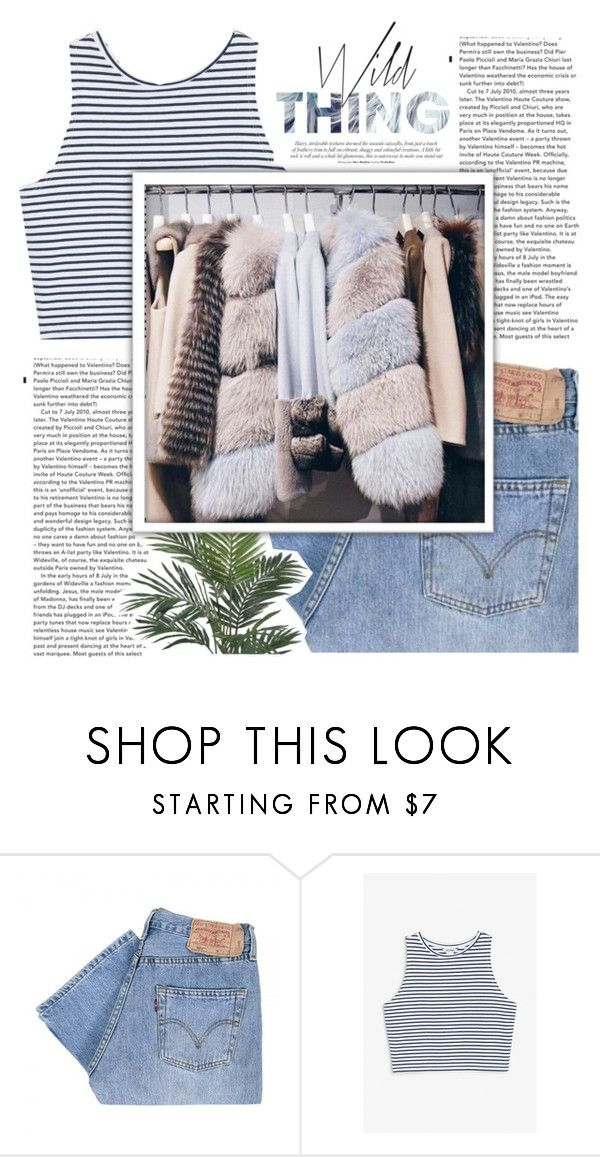 """""""Untitled #112"""" by scheherazadee ❤ liked on Polyvore featuring Levi's, Monki and Nearly Natural"""