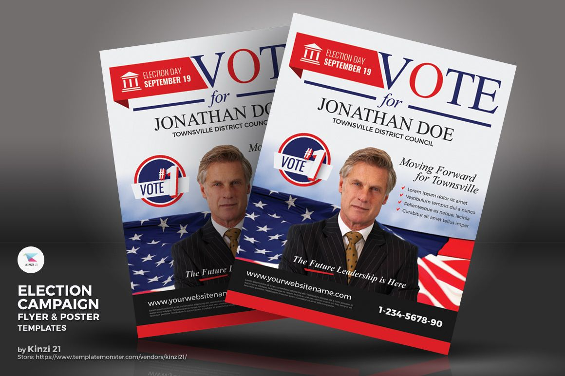 Election Campaign Flyer And Poster Psd Template Political Flyer