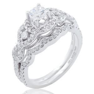 White Gold SemiMount Diamond Wedding Set Call Martin Jewelry at