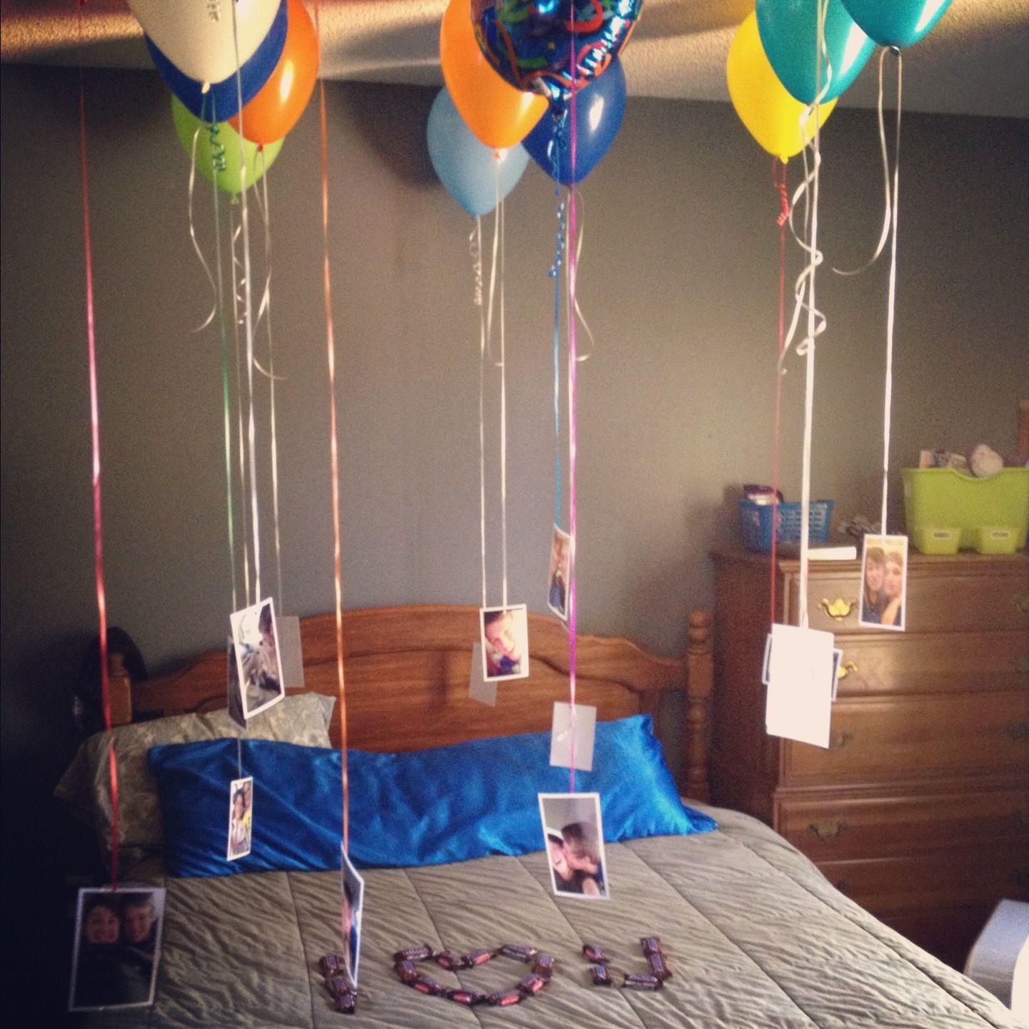 Did this for boyfriends birthday Sorpresa cumple Pinterest