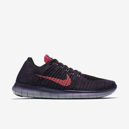 Nike Free RN FlyknithombresRunning Purple Zapatos Night Maroon Purple FlyknithombresRunning Crimson 3f9293