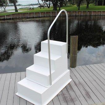 Best Fiberglass 4 Four Step Stairs Stairs Aluminum 640 x 480