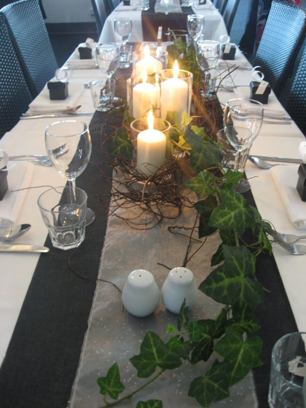 Table Ivy And Candles Wedding Table Centerpieces Flower Centerpieces Wedding Wedding Table