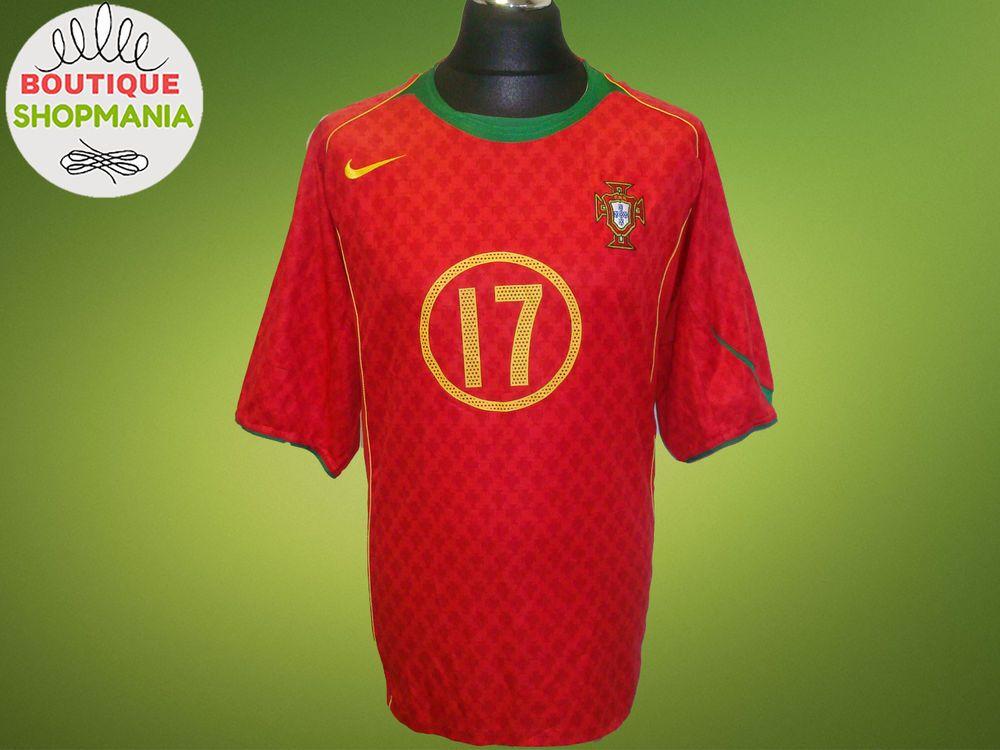 tofu Muchas situaciones peligrosas Deformar  PORTUGAL National HOME 2004-2006 #17 RONALDO XL-XXL Nike FOOTBALL SHIRT  Jersey | Nike football, Football shirts, Soccer shirts