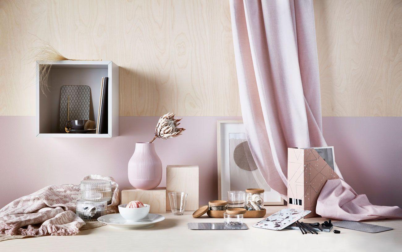 accesorios en rosa para armarios ikea