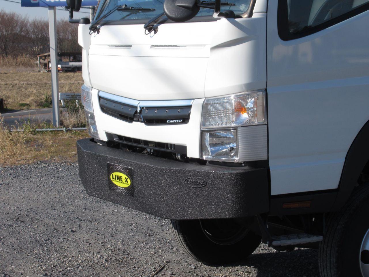 キャンタートラック ワンオフバンパー Line X ラインエックス 塗装 カスタム キャンター ワンオフ トラック