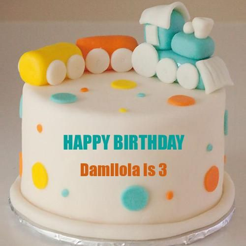 Write Name On Cute Baby Train Birthday Cake For Baby Baby