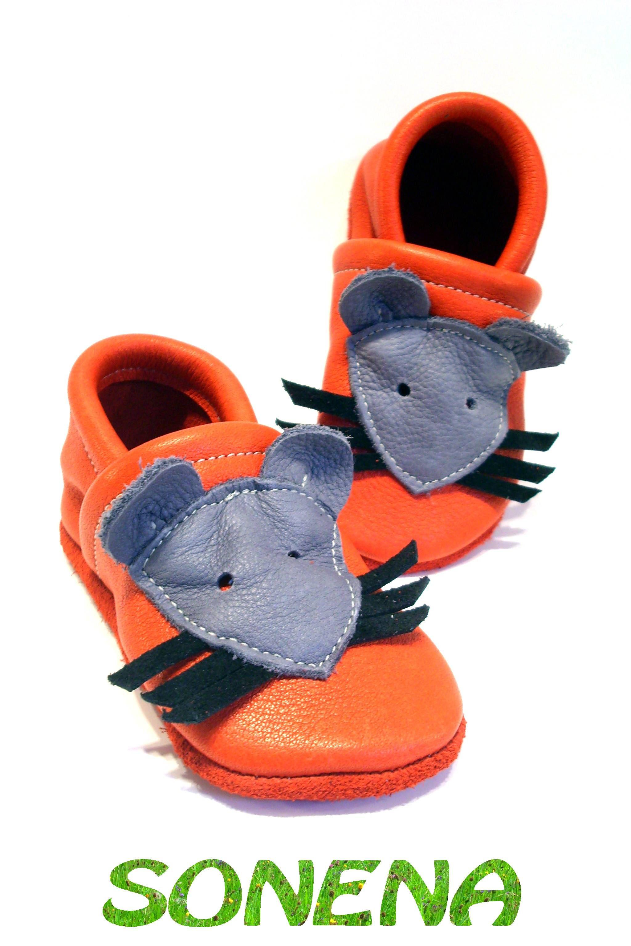 Lederpuschen erste Schuhe Hausschuhe aus rein pflanzlich