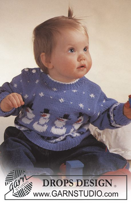 Drops Jumper With Snowman Motif And Socks Free Pattern By Drops