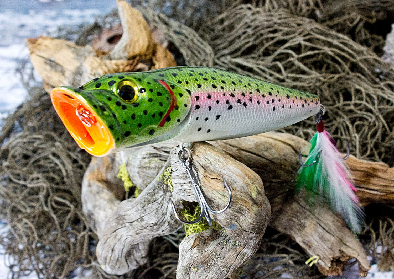 Custom topwater popper lure custom lure colors bluegill shad