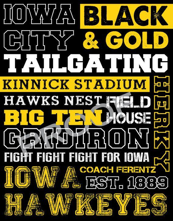Iowa Hawkeyes Sports Decor