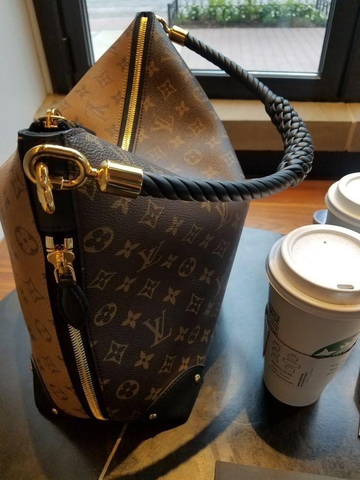 Womens Handbags : LV Triangle Softy with Starbucks