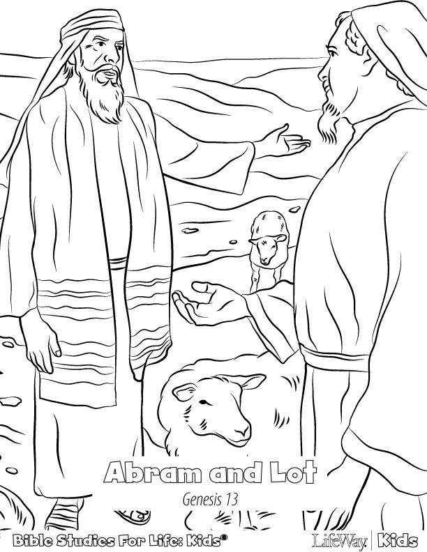 Abraham And Lot Coloring Pages With Images Abraham And Lot
