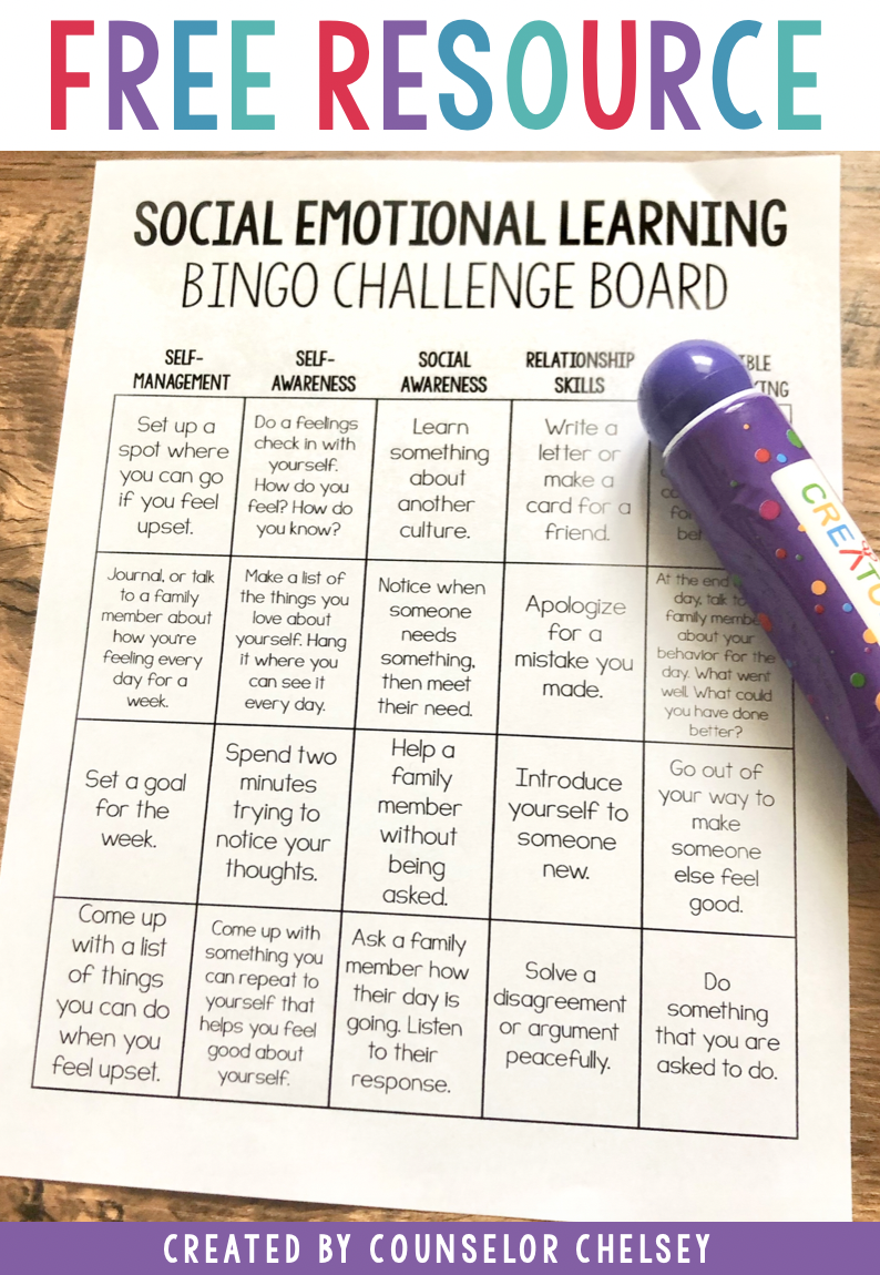 Social Emotional Learning Free Activity Board Social Emotional Learning Activities Social Emotional Learning Social Emotional