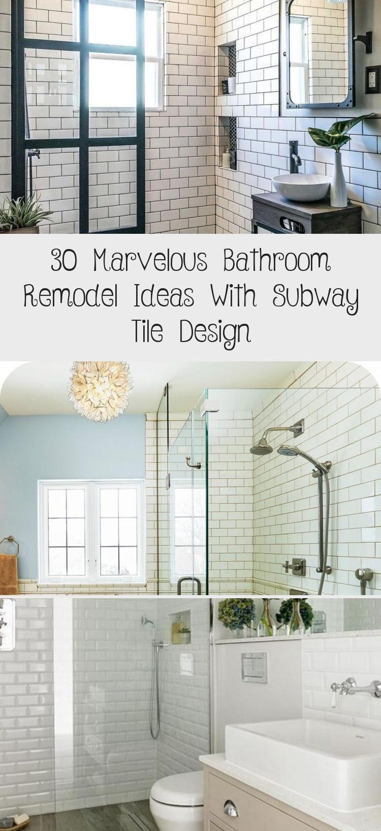 30 Marvelous Bathroom Remodel Ideas With Subway Tile Design White Bathroom Tiles Bathroom Tile Designs Simple Bathroom
