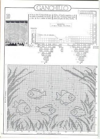 fische anleitung h keln und stricken gardinen h keln. Black Bedroom Furniture Sets. Home Design Ideas