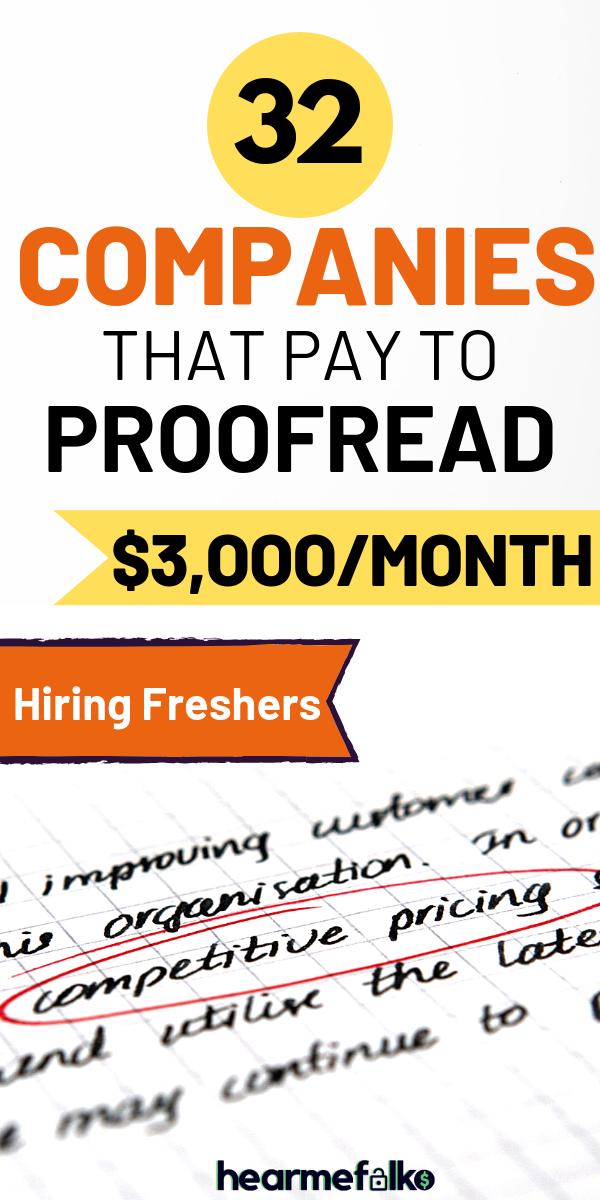 32 Legitimate Online Proofreading Jobs To Make 3k Mon Hearmefolks Proofreading Jobs Online Jobs From Home Online Jobs