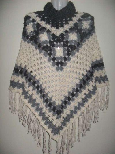 ponchos- tejidos-a-crochet- tejidos