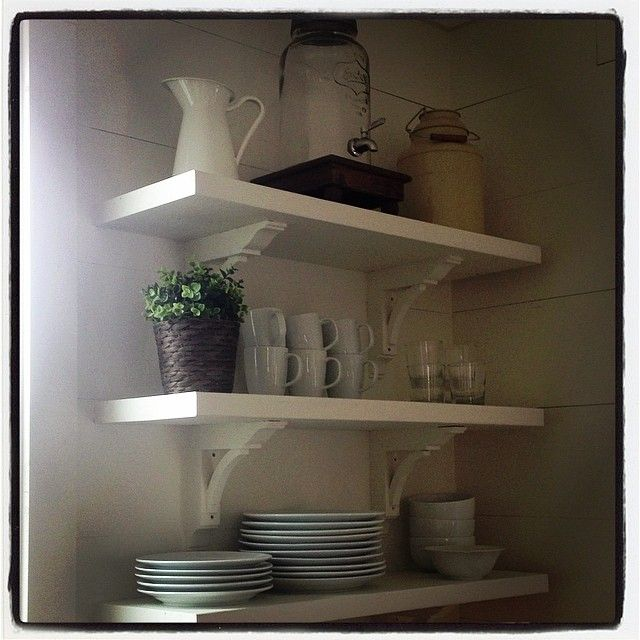 what if you installed beautiful shelving instead of more on kitchen shelves instead of cabinets id=78434