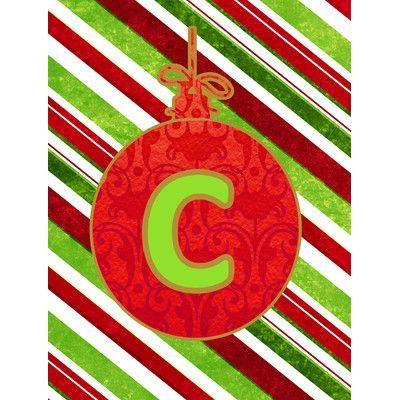 Carolineu0027s Treasures Christmas Oranment Holiday Monogram Initial - holiday letter