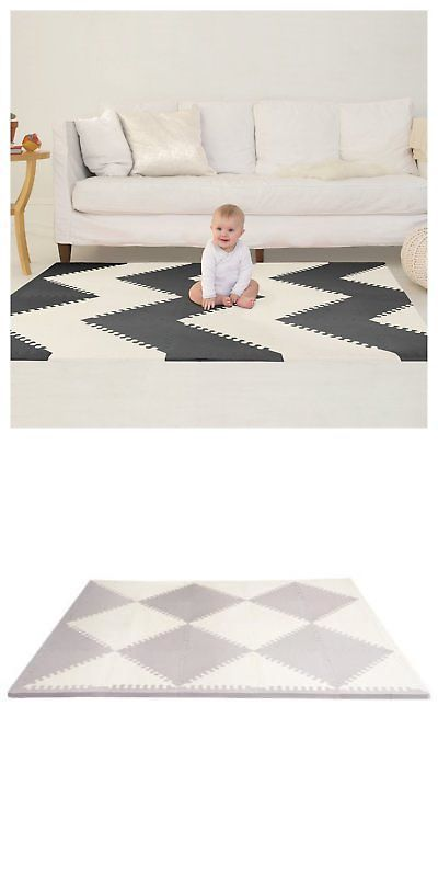 Skip Hop Playspot Geo Foam Floor Tiles Black And Cream Baby Gyms