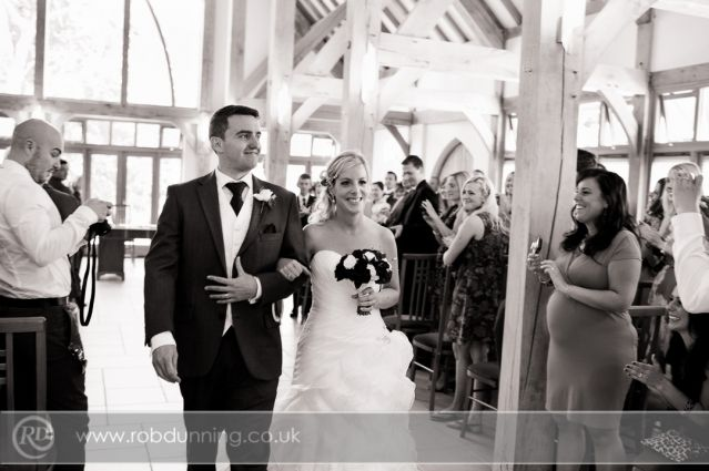 Doug Vicky Walking Out As Husband And Wife By Hampshire Wedding Photographer Robdunning