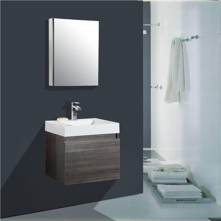 """24 Bathroom Vanity With Medicine Cabinet aqua decor venice 24"""" modern bathroom vanity set w/ medicine"""