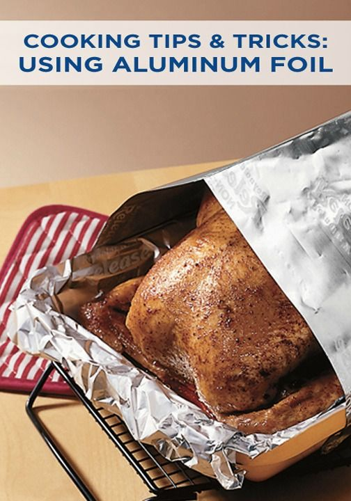 Using Aluminum Foil To Prevent Over Browning Or Burning Cooking And Baking Food Cooking Kitchen