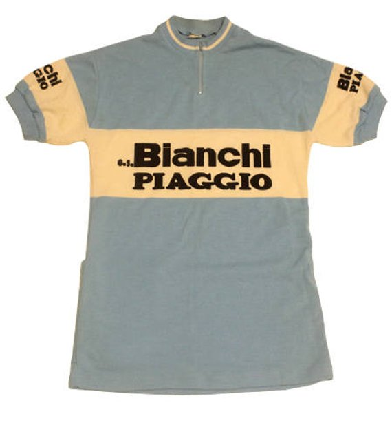 70 S Vintage Deadstock Bianchi Piaggio Cycling Jersey Made Etsy In 2020 Cycling Jersey Design Cycling Jerseys Women S Cycling Jersey