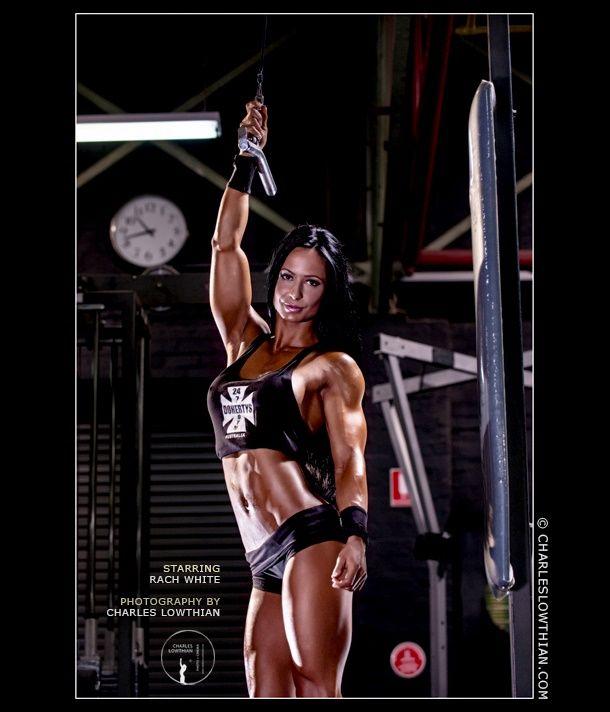 Rach white bodybuilding