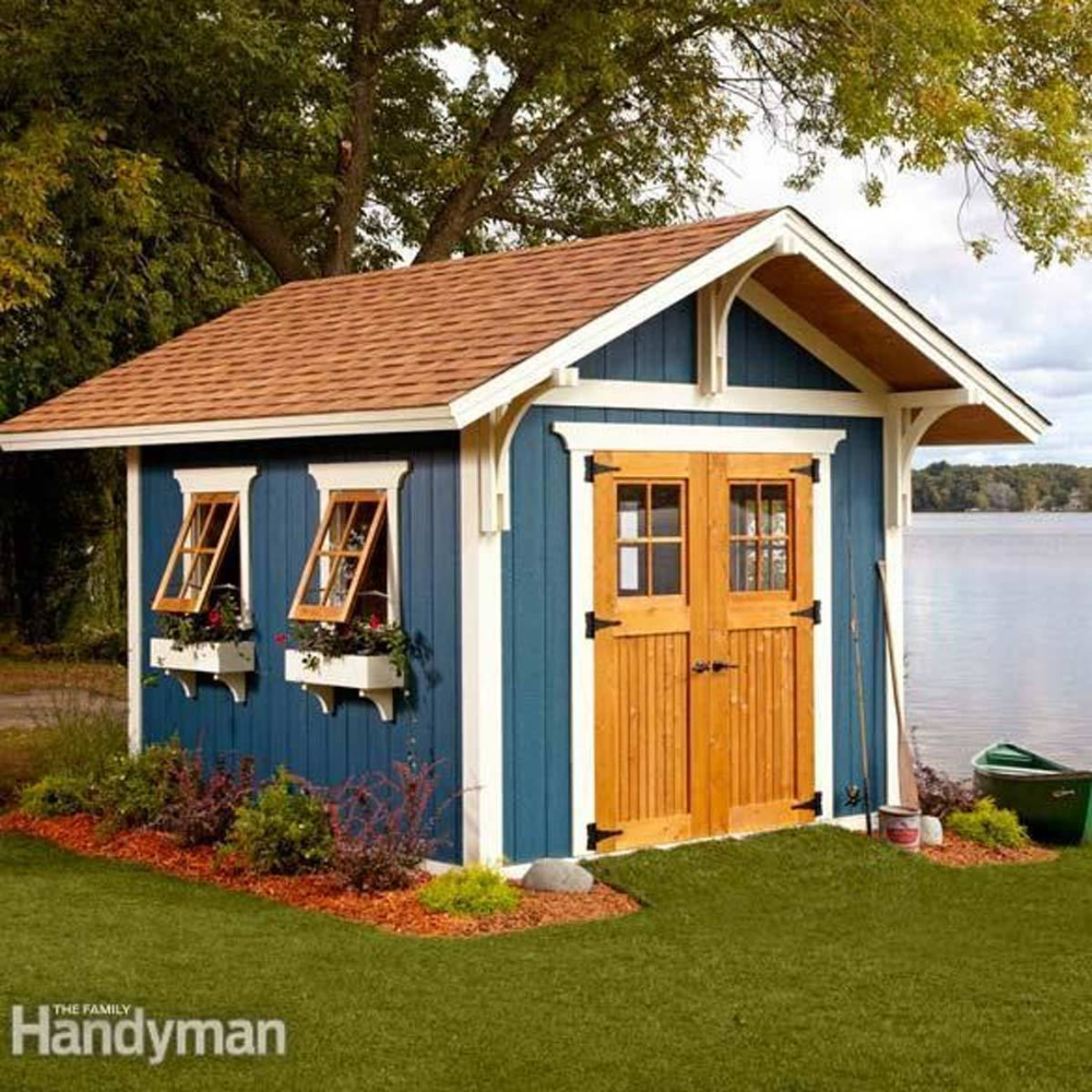 24 Tips For Turning A Shed Into A Tiny Hideaway In 2020 Backyard Sheds Shed Building Plans Building A Shed