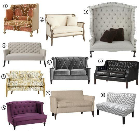 small space sofa alternatives 10 settees loveseats pam s decor rh pinterest com  sofas and loveseats for small spaces