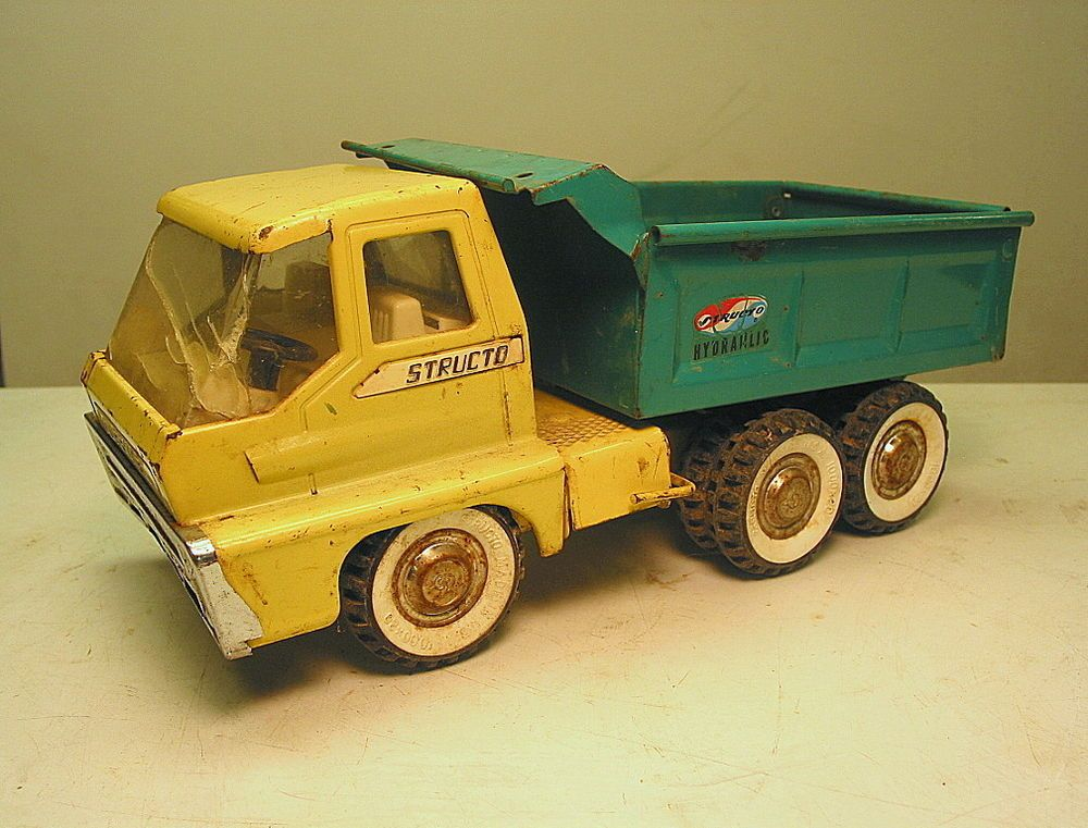 Vintage structo 1966 steel toy dump truck in poor condition air ...