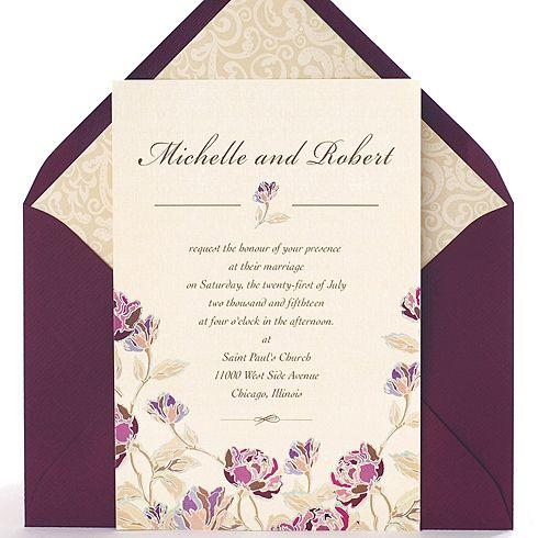 Invitaci n para bodas cl sicas con dise o vintage de - Disenos tarjetas de boda ...