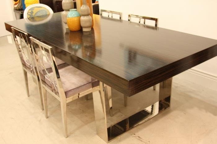 Macassar Ebony Dining Room Table Dining Table Luxury Dining