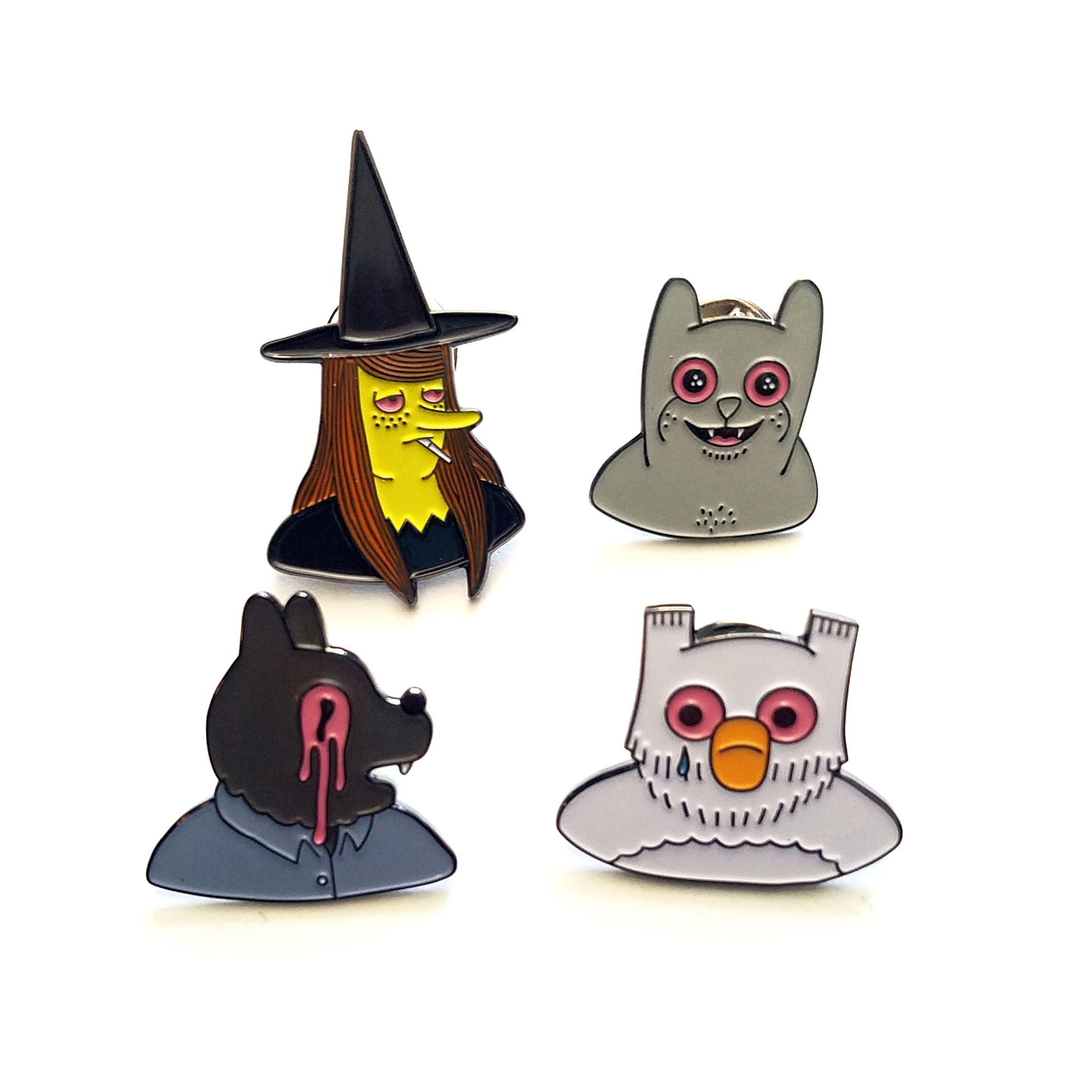 Simon Hanselmanns Megg, Mogg, Owl And Werewolf Jones Pins Httpsecretheadquarterslimitedruncomproducts594692 Simon Hanselmann Pins