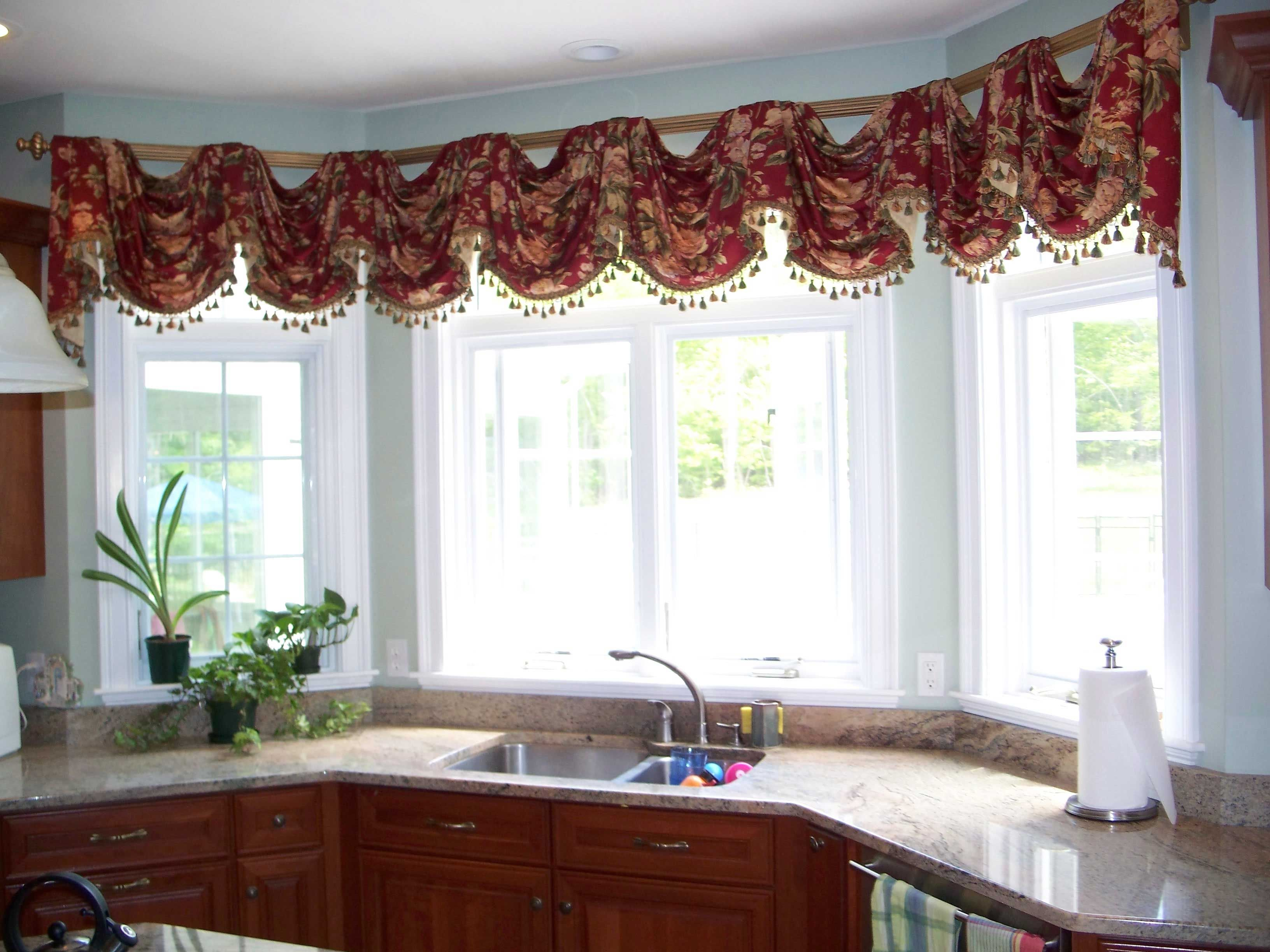 Swag kitchen curtains - 17 Best Images About Swag Window Treatments On Bay Diy Kitchen Window Treatments