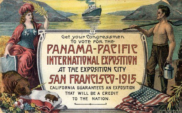 Pro 1915 Panama-Pacific International Exposition in San Francisco Postcard, 1912.