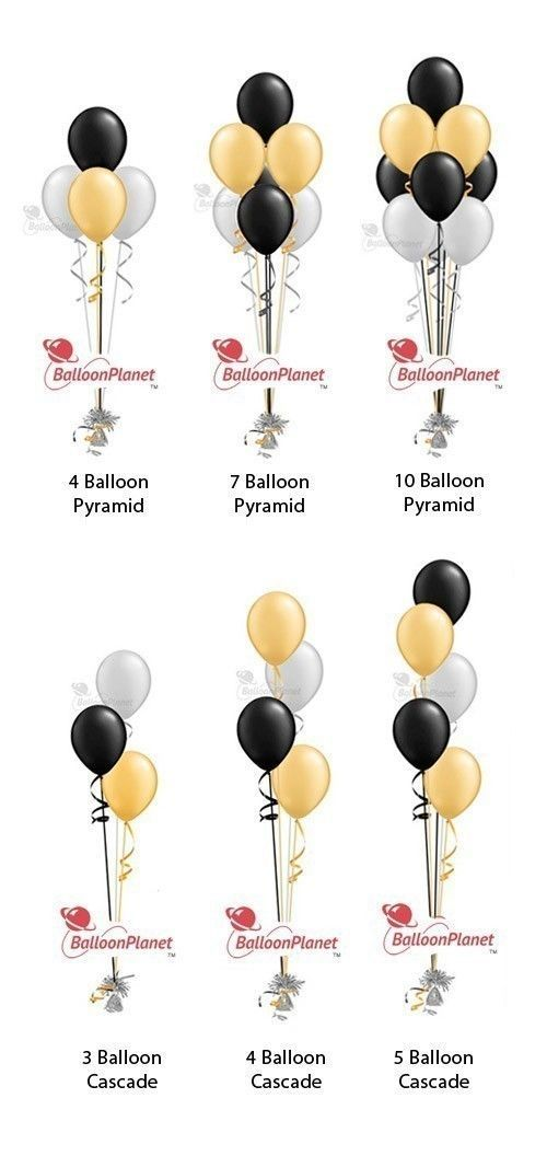 When ordering bulk balloons with the intention of arranging the balloons yourself consider arranging the balloons into one or more of these popular balloon configurations...