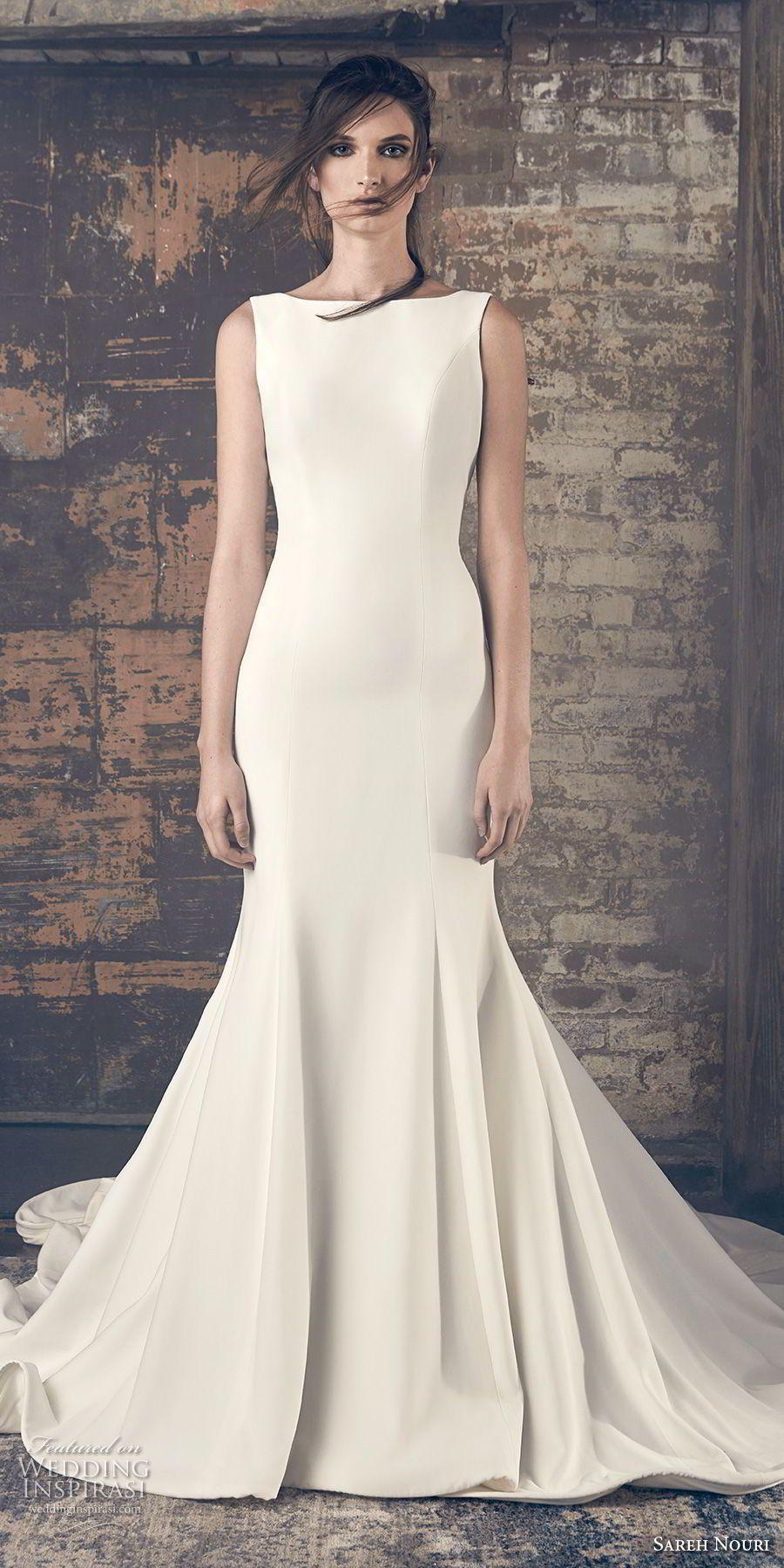 Sareh Nouri Fall 2018 Wedding Dresses Wedding Inspirasi High Neck Wedding Dress Simple Wedding Gowns Halter Wedding Dress [ 1800 x 900 Pixel ]