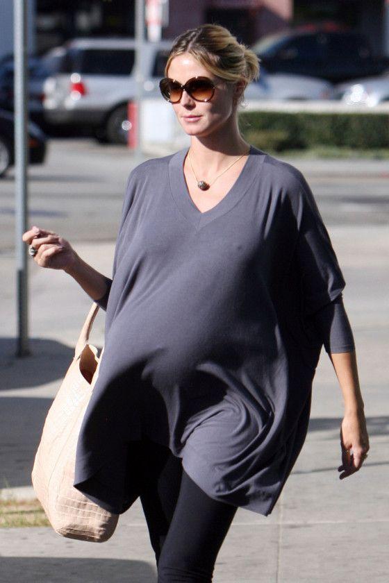 43f3c4ae978 Pregnant Heidi Klum Cool Maternity Fashion